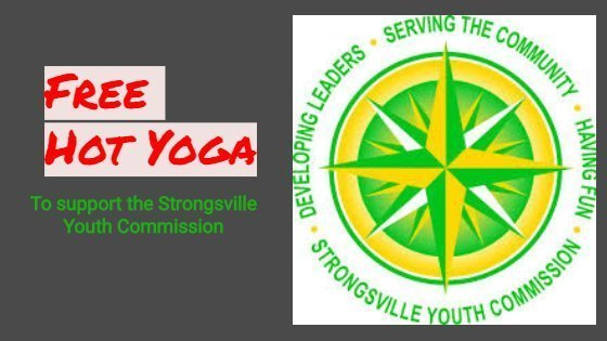 Free Hot Yoga! Donation Class to support the Strongsville Youth Commission