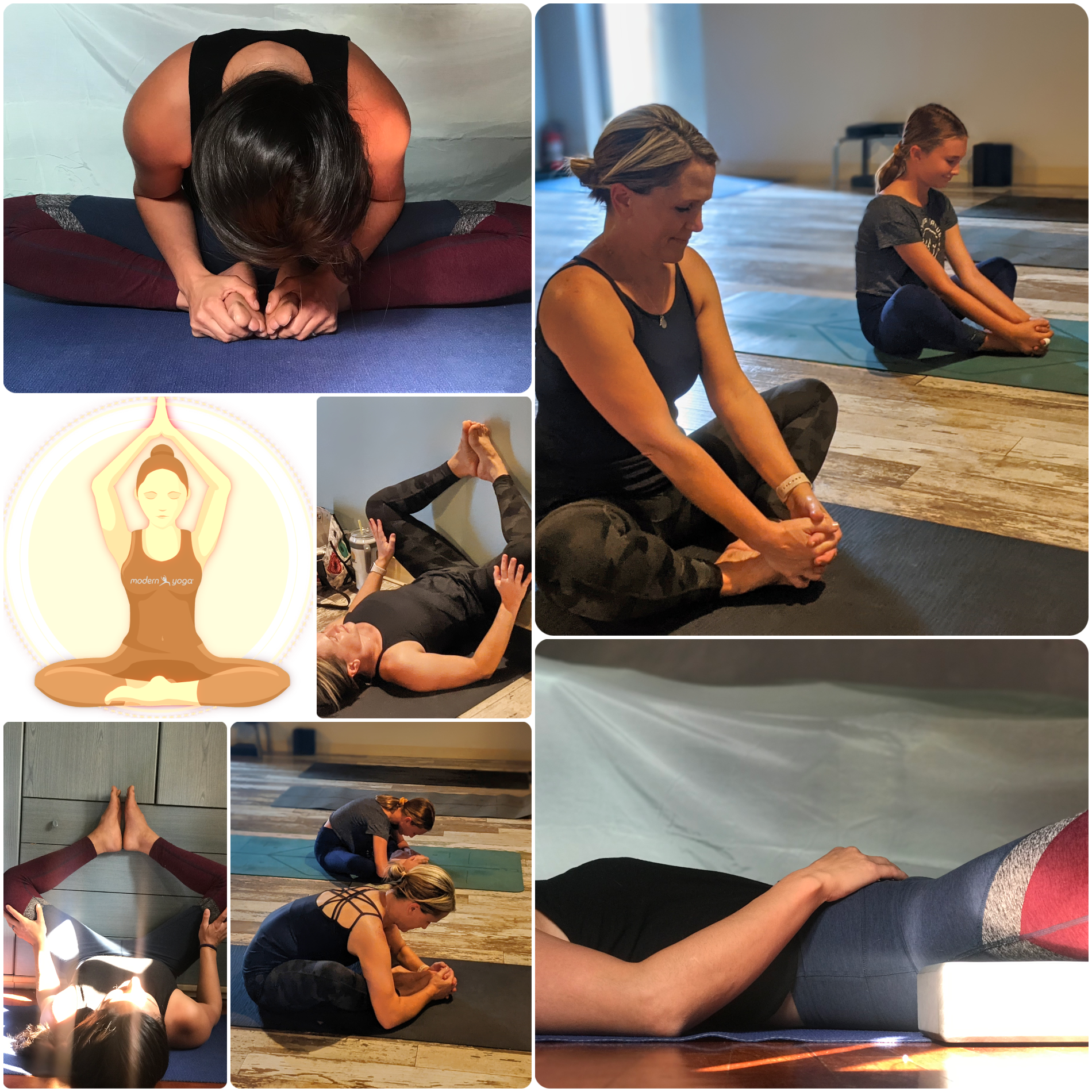 Butterfly pose collage